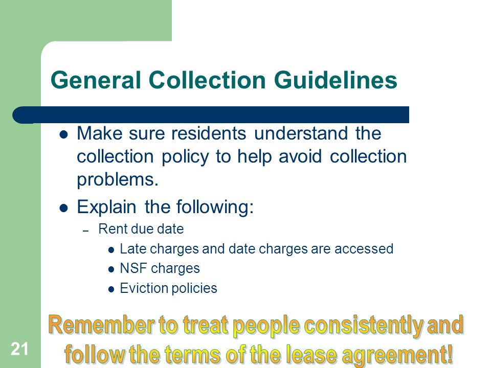 General Collection Guidelines
