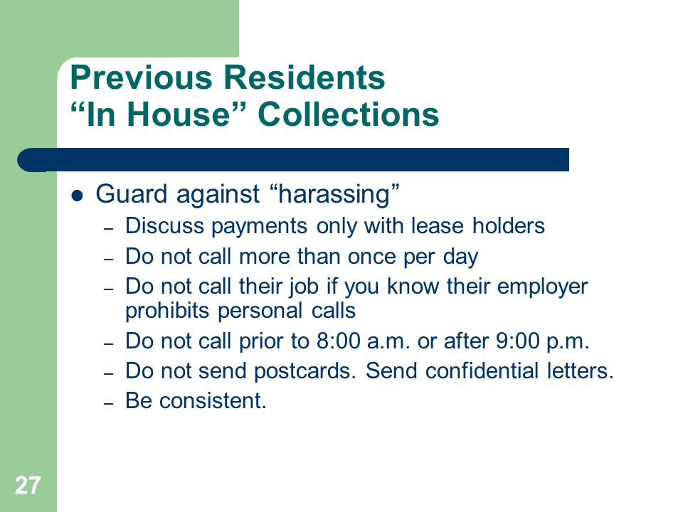 Previous Residents In House Collections