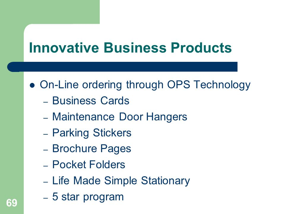 Innovative Business Products