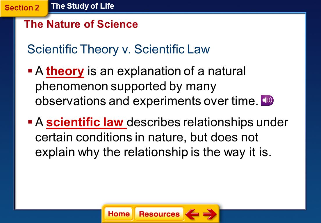Scientific Theory v. Scientific Law