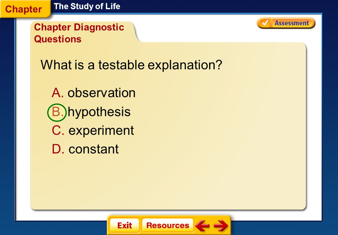 What is a testable explanation
