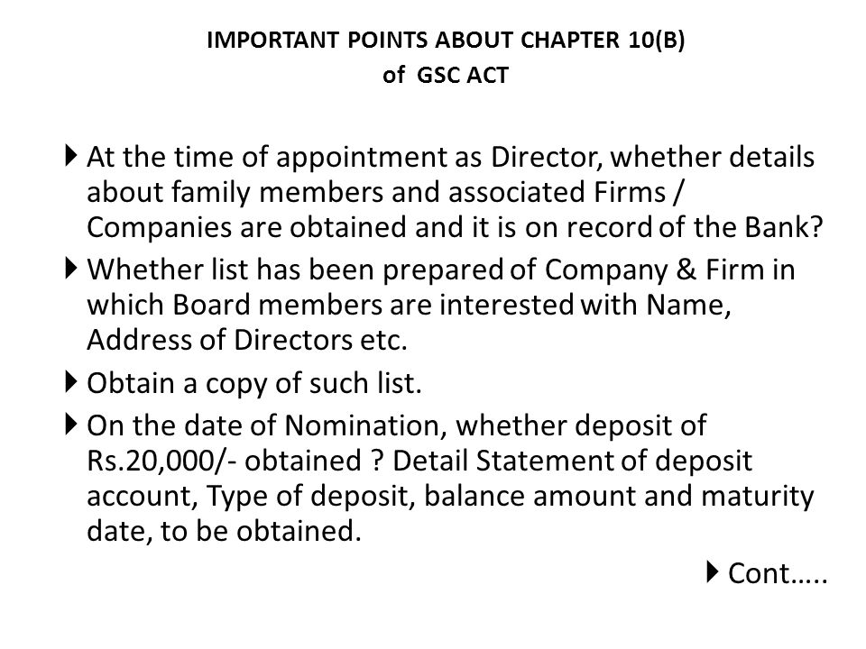 IMPORTANT POINTS ABOUT CHAPTER 10(B)