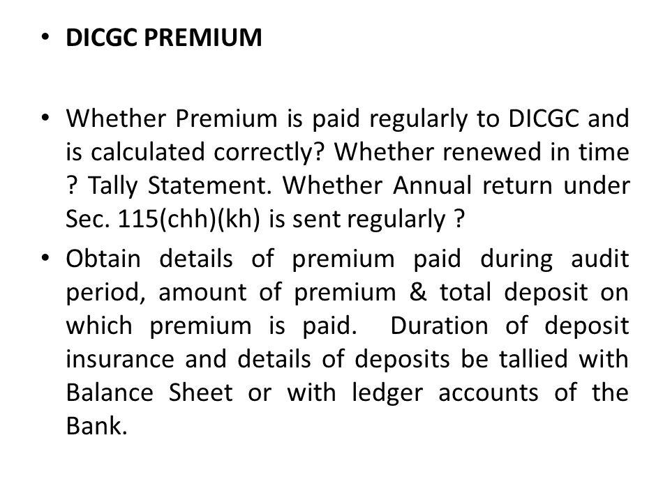 DICGC PREMIUM