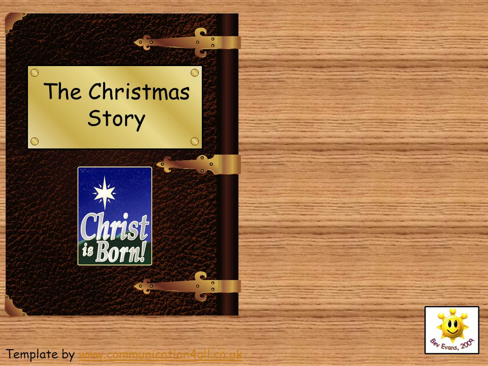 The Christmas Story Template by www.communication4all.co.uk