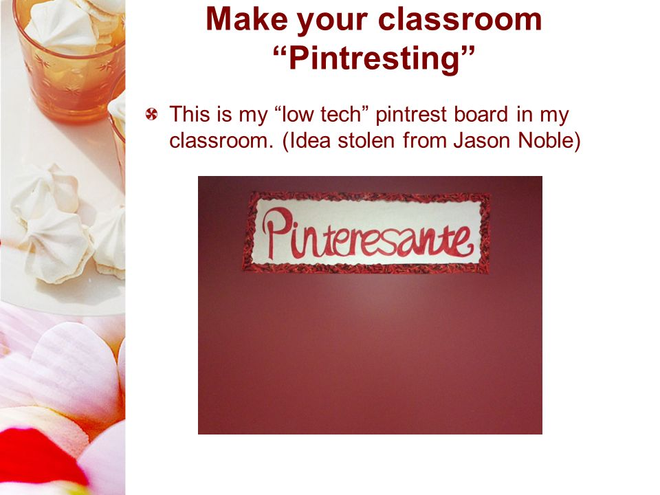 Make your classroom Pintresting