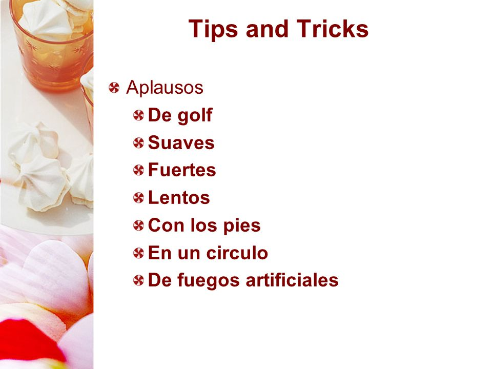 Tips and Tricks Aplausos De golf Suaves Fuertes Lentos Con los pies