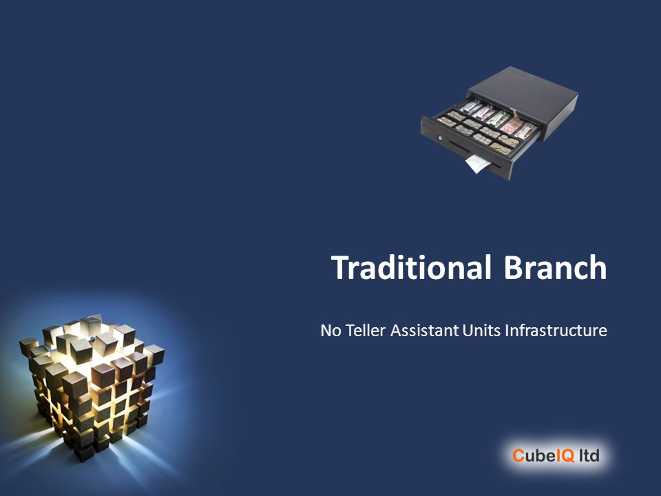 Traditional Branch No Teller Assistant Units Infrastructure