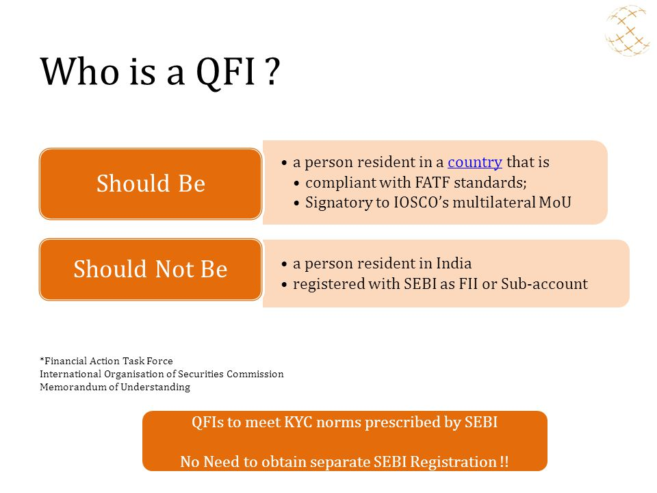 Who is a QFI Should Not Be Should Be