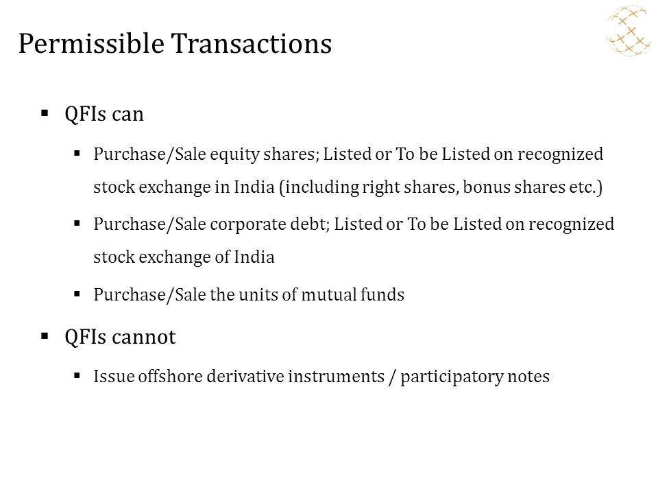 Permissible Transactions