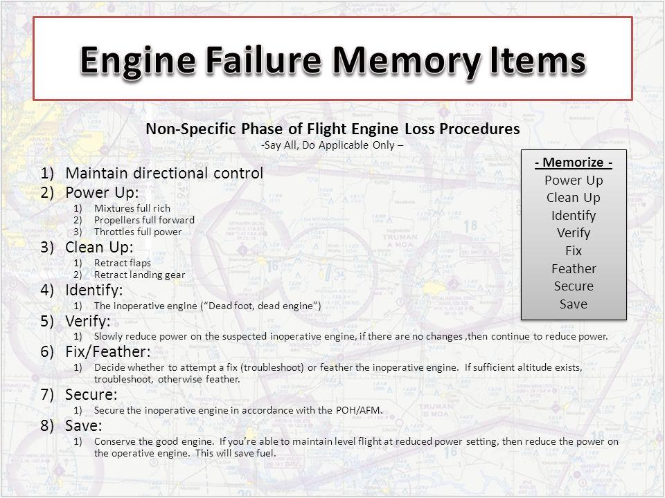 Engine Failure Memory Items