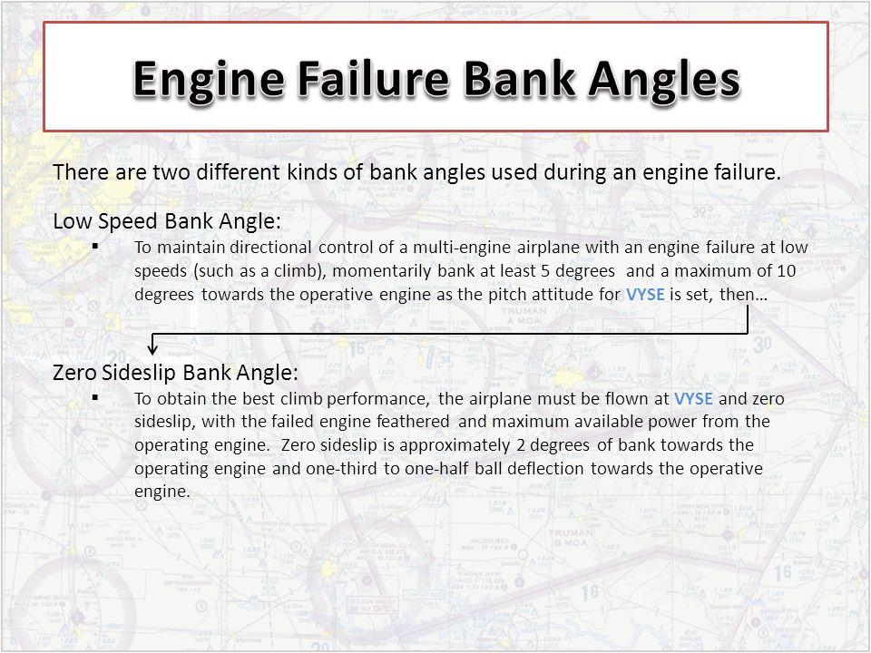 Engine Failure Bank Angles