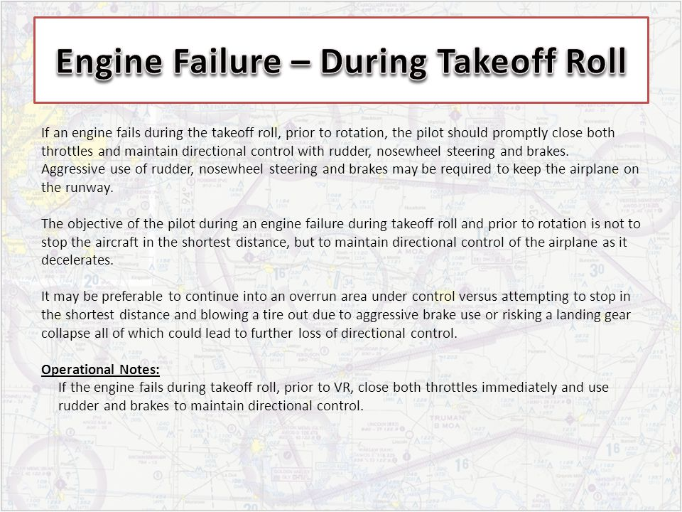 Engine Failure – During Takeoff Roll