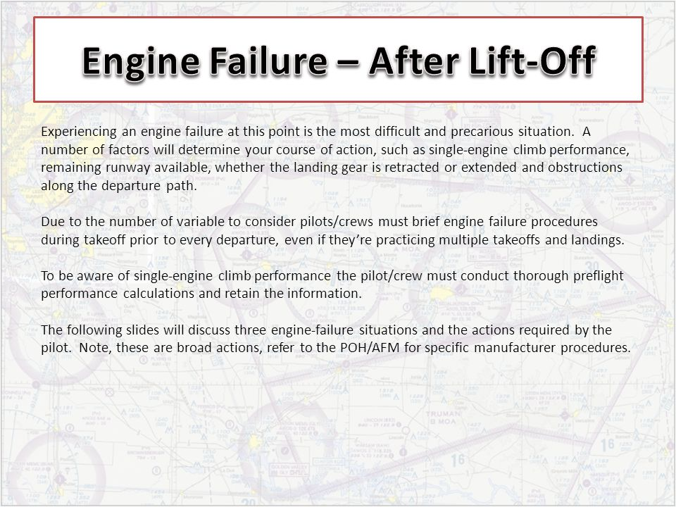 Engine Failure – After Lift-Off