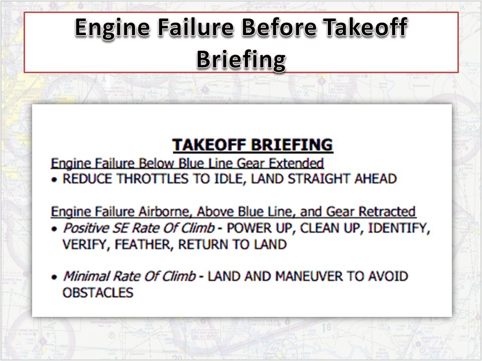 Engine Failure Before Takeoff Briefing