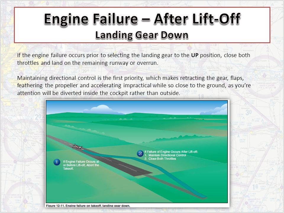Engine Failure – After Lift-Off Landing Gear Down