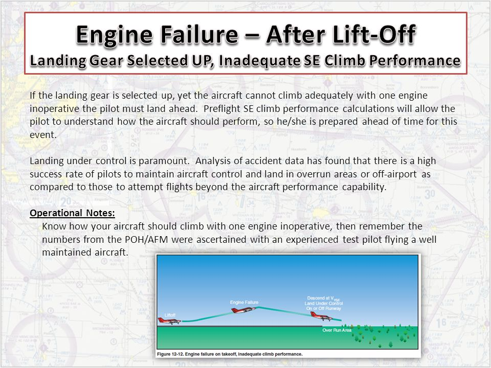 Engine Failure – After Lift-Off Landing Gear Selected UP, Inadequate SE Climb Performance