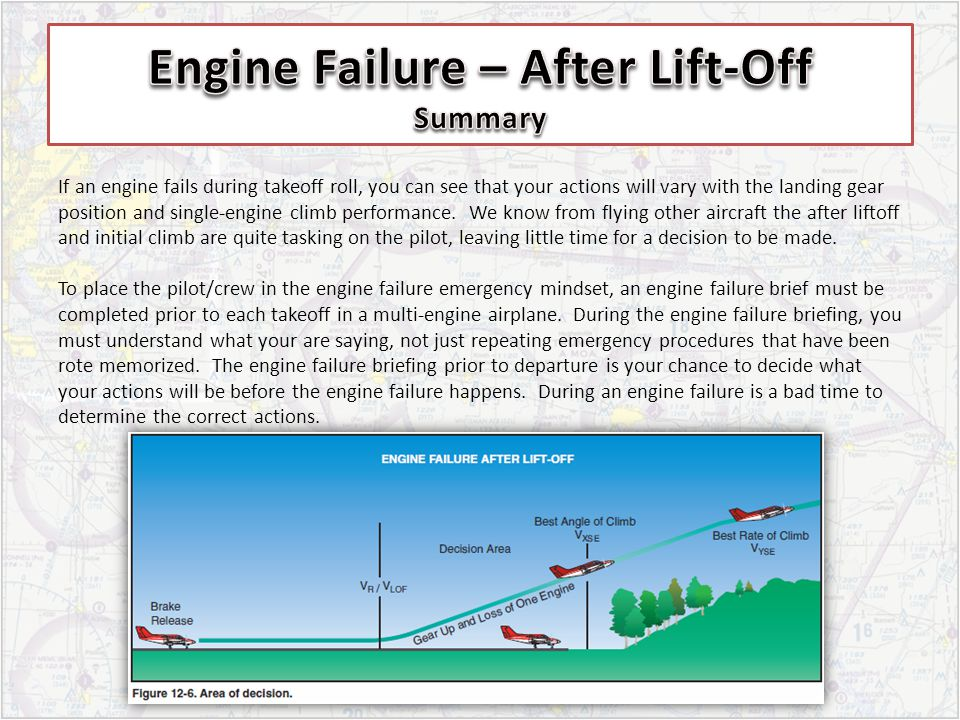 Engine Failure – After Lift-Off Summary