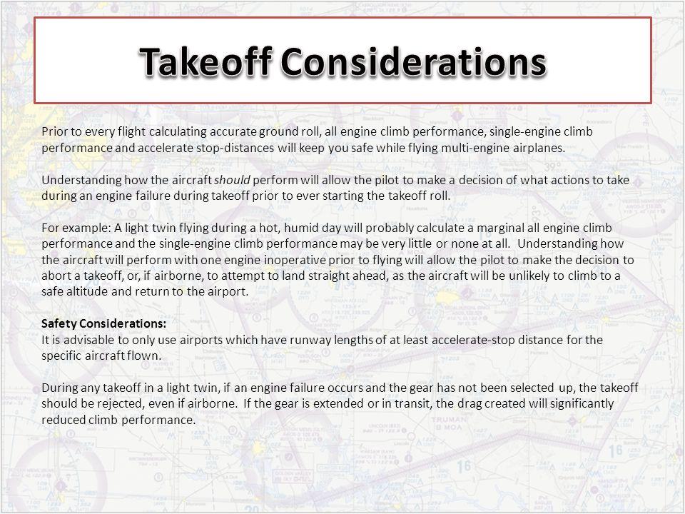 Takeoff Considerations