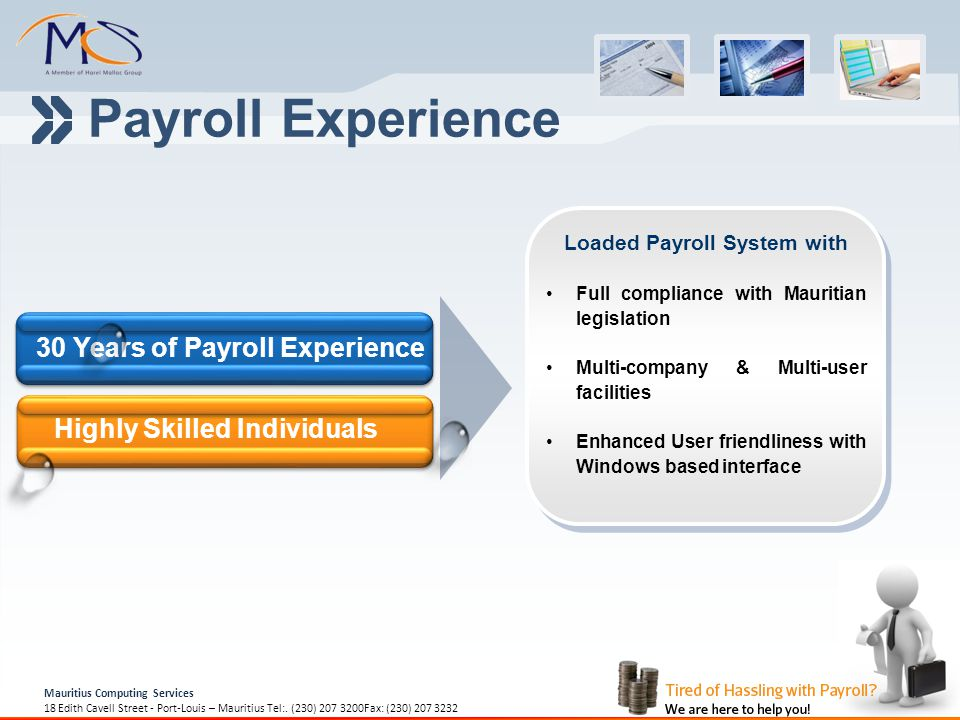 Payroll Experience 30 Years of Payroll Experience