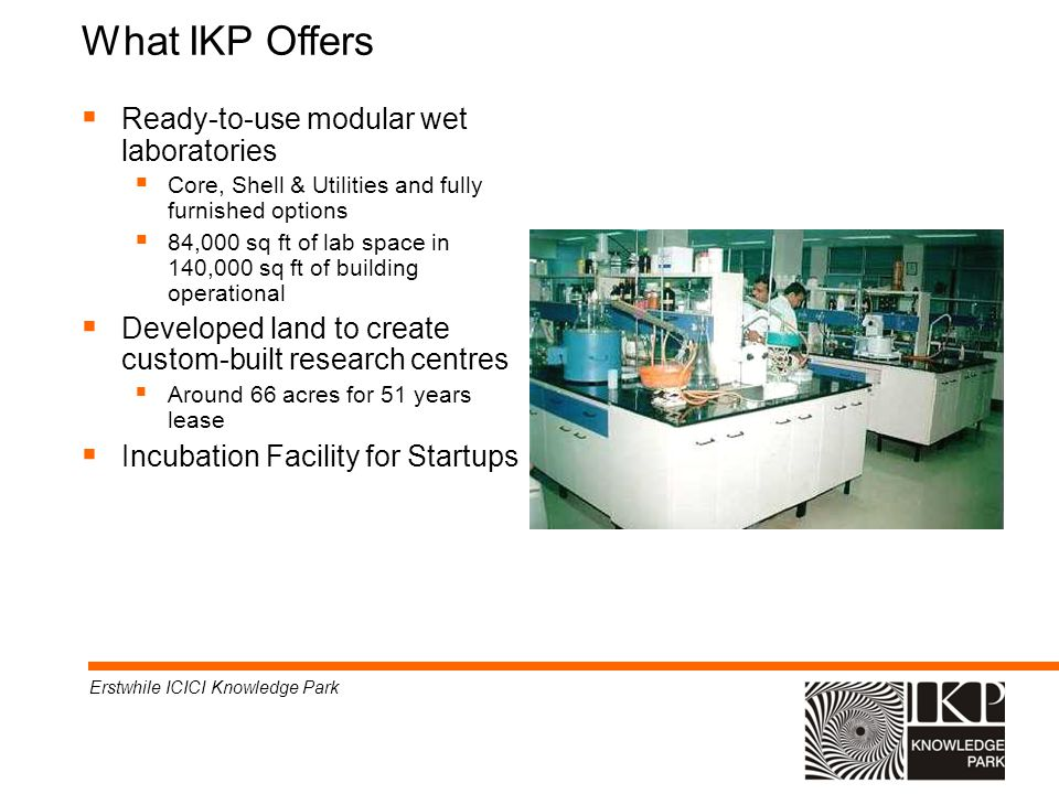What IKP Offers Ready-to-use modular wet laboratories