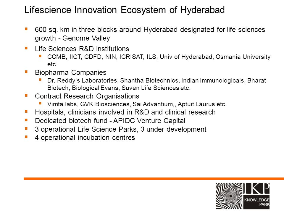 Lifescience Innovation Ecosystem of Hyderabad
