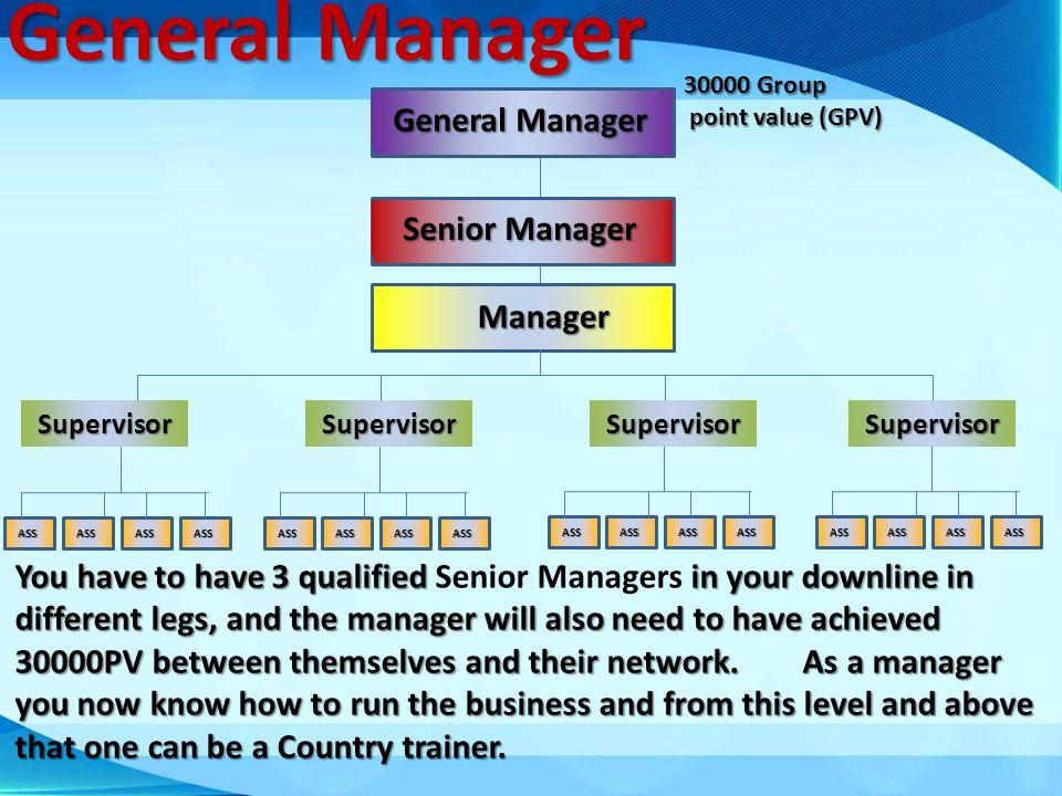 General Manager General Manager Senior Manager Manager