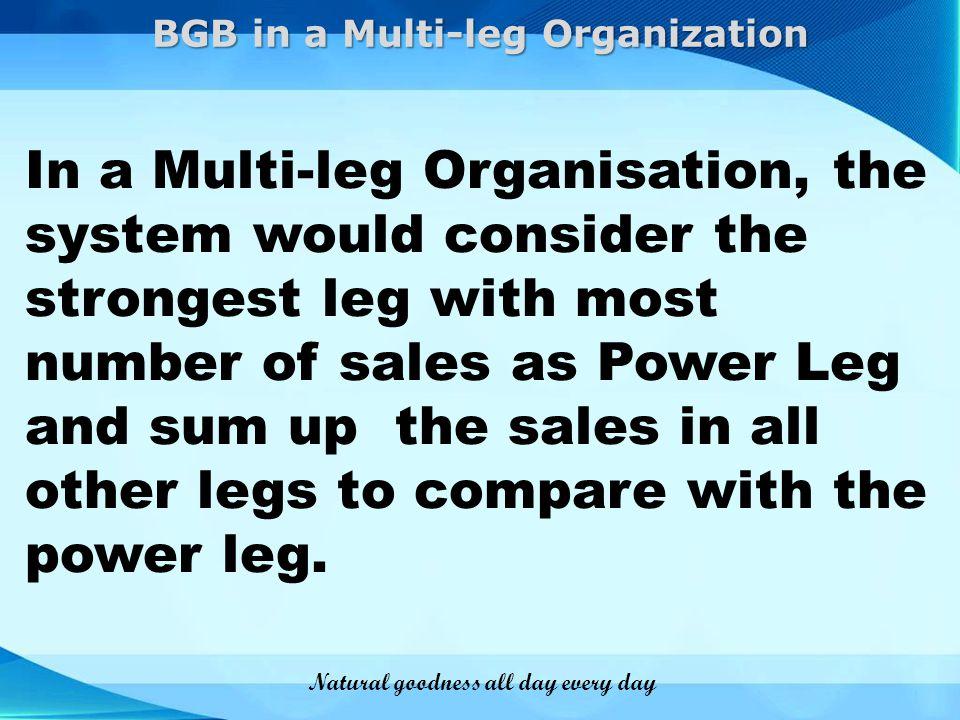 BGB in a Multi-leg Organization