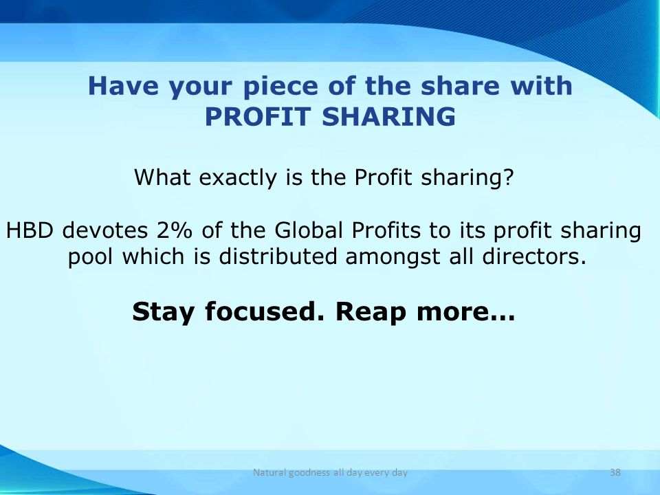Have your piece of the share with Stay focused. Reap more…