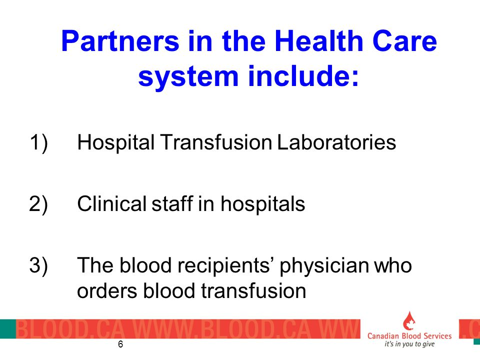 Partners in the Health Care system include: