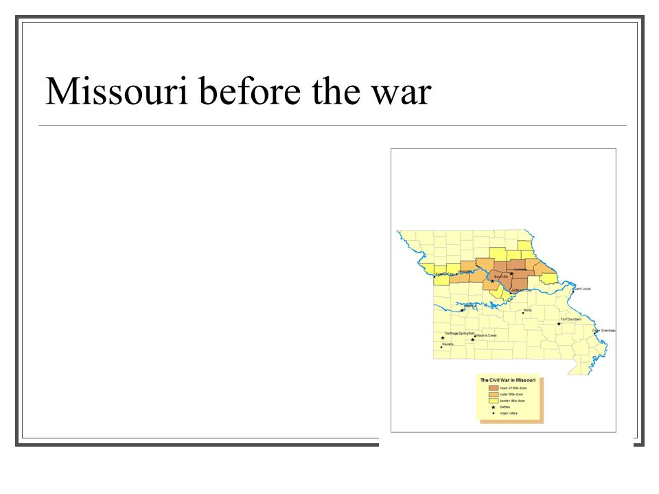 Missouri before the war