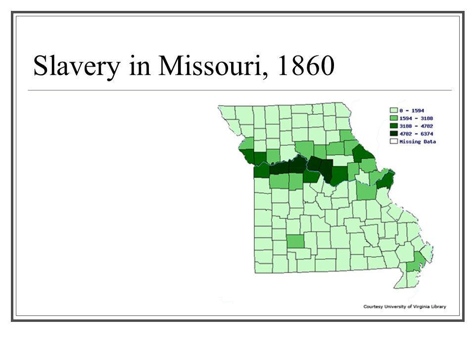 Slavery in Missouri, 1860