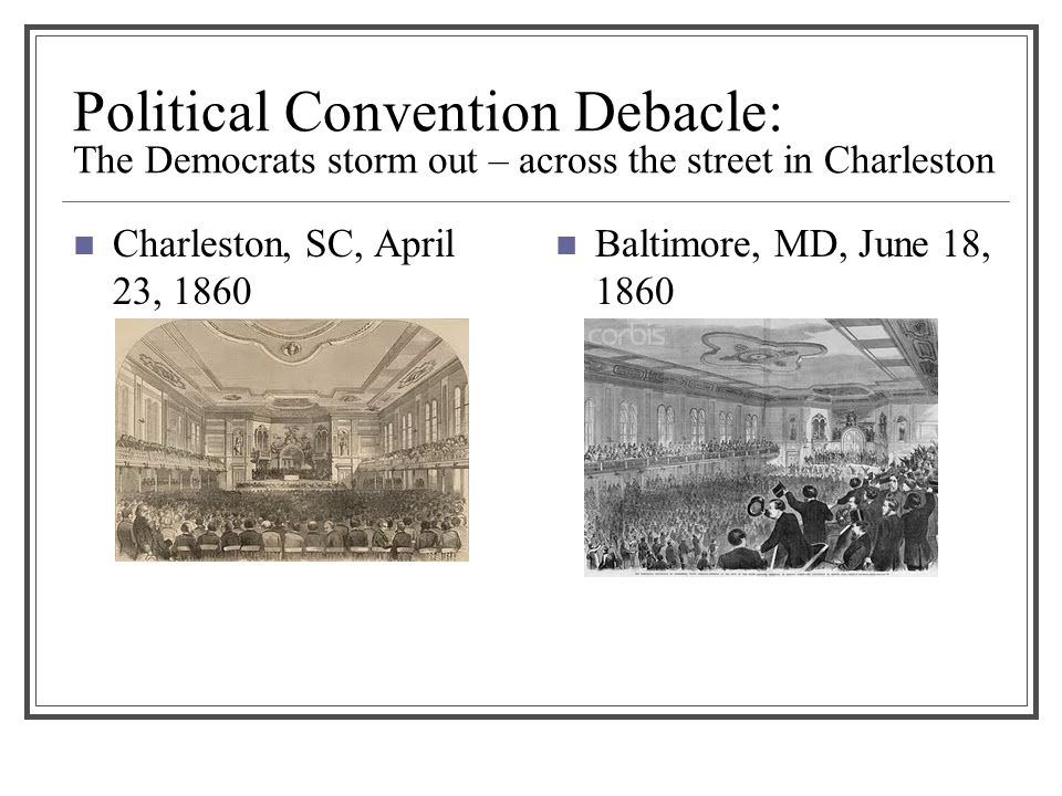 Political Convention Debacle: The Democrats storm out – across the street in Charleston