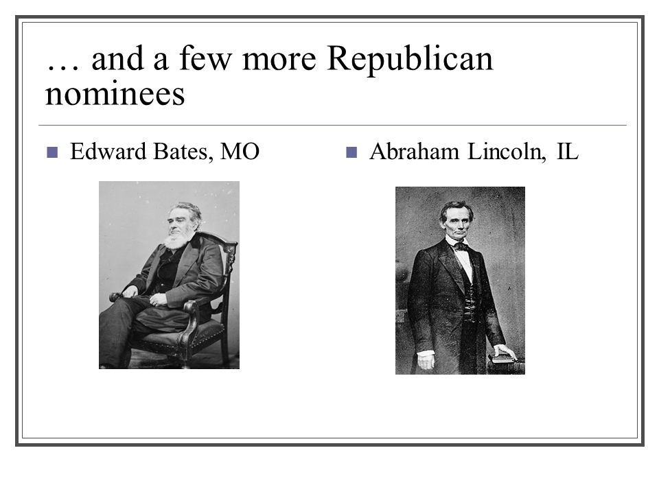 … and a few more Republican nominees