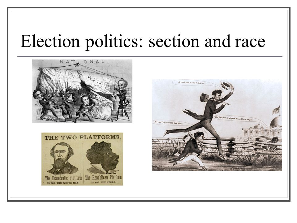 Election politics: section and race