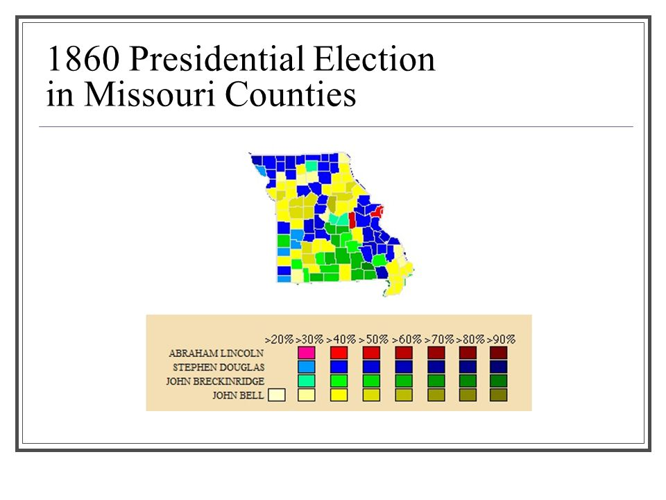 1860 Presidential Election in Missouri Counties