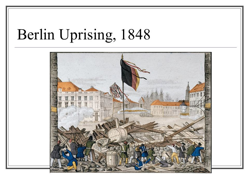 Berlin Uprising, 1848