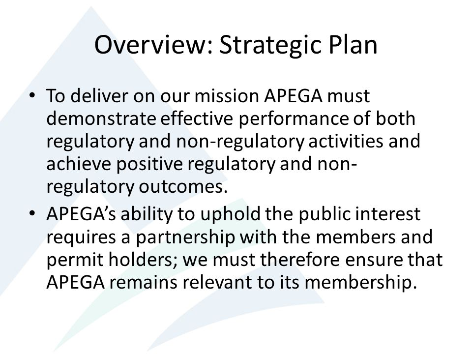 Overview: Strategic Plan