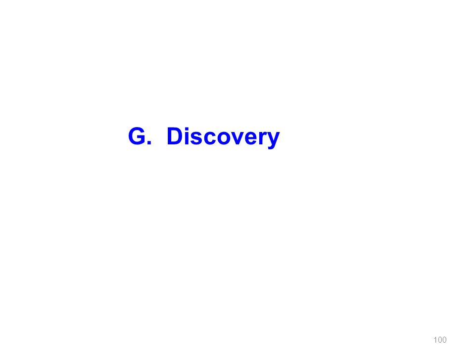 G. Discovery