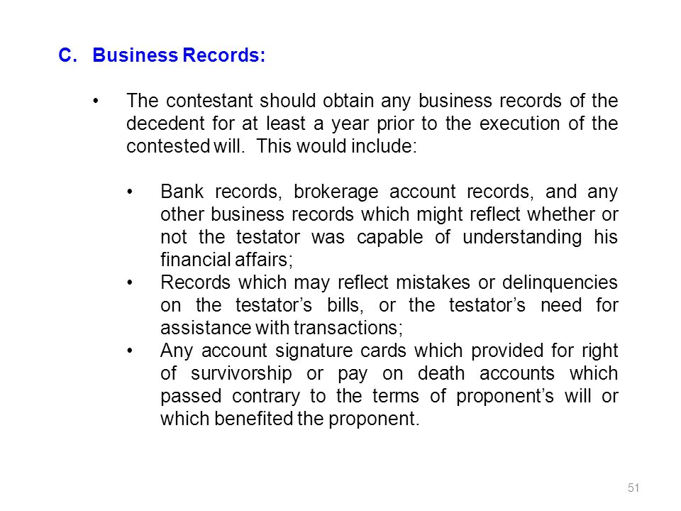 C. Business Records:
