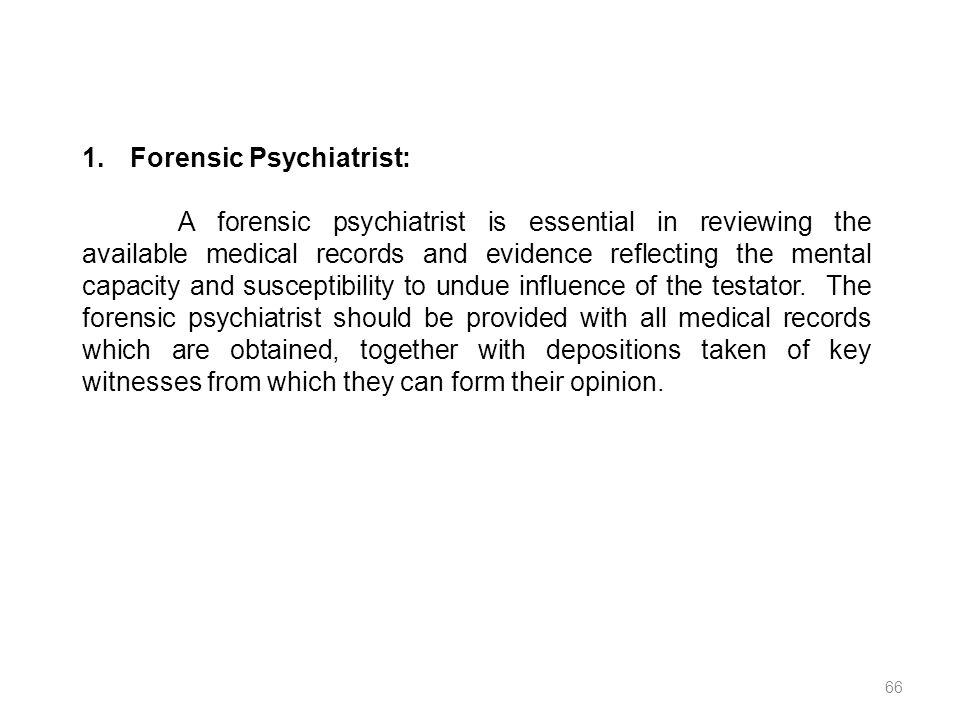 Forensic Psychiatrist: