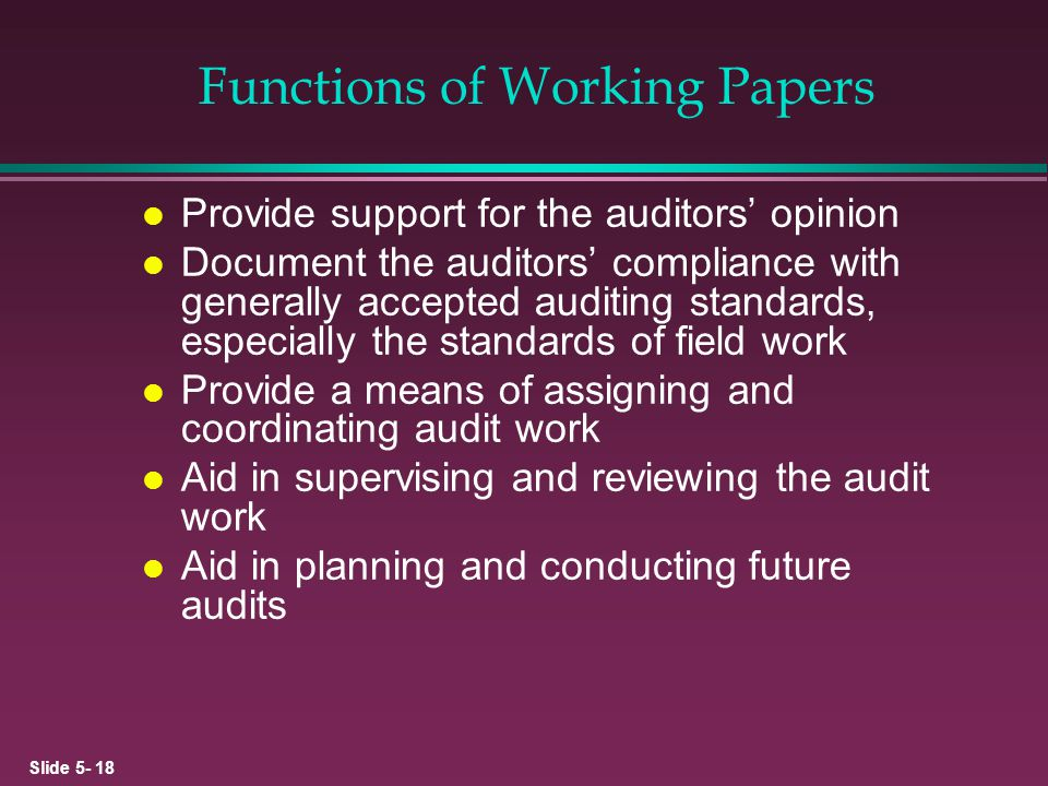 Functions of Working Papers