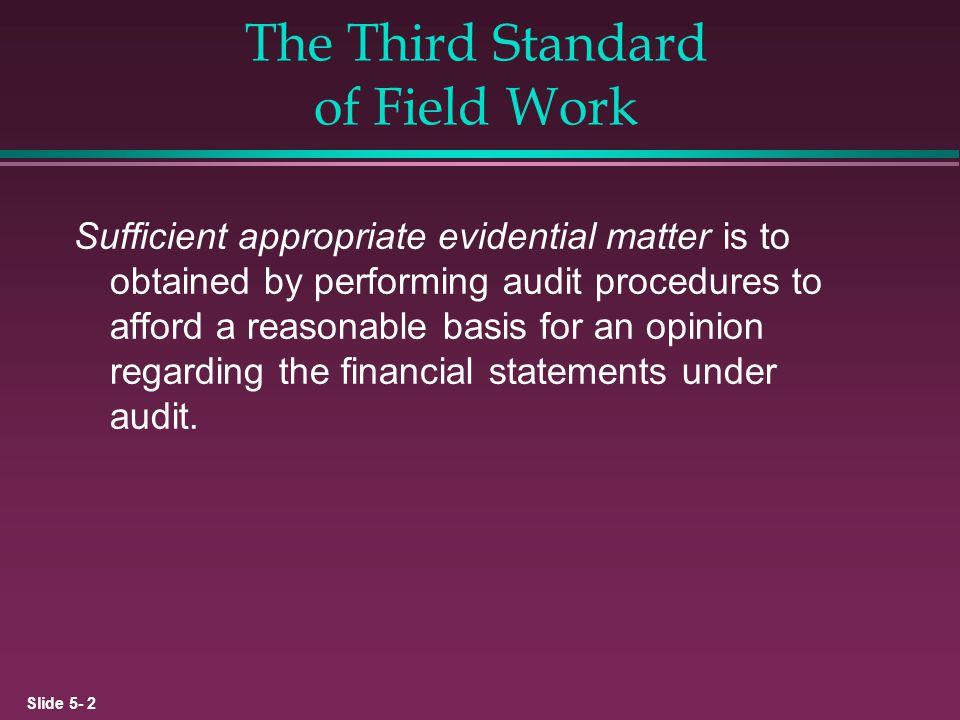 The Third Standard of Field Work