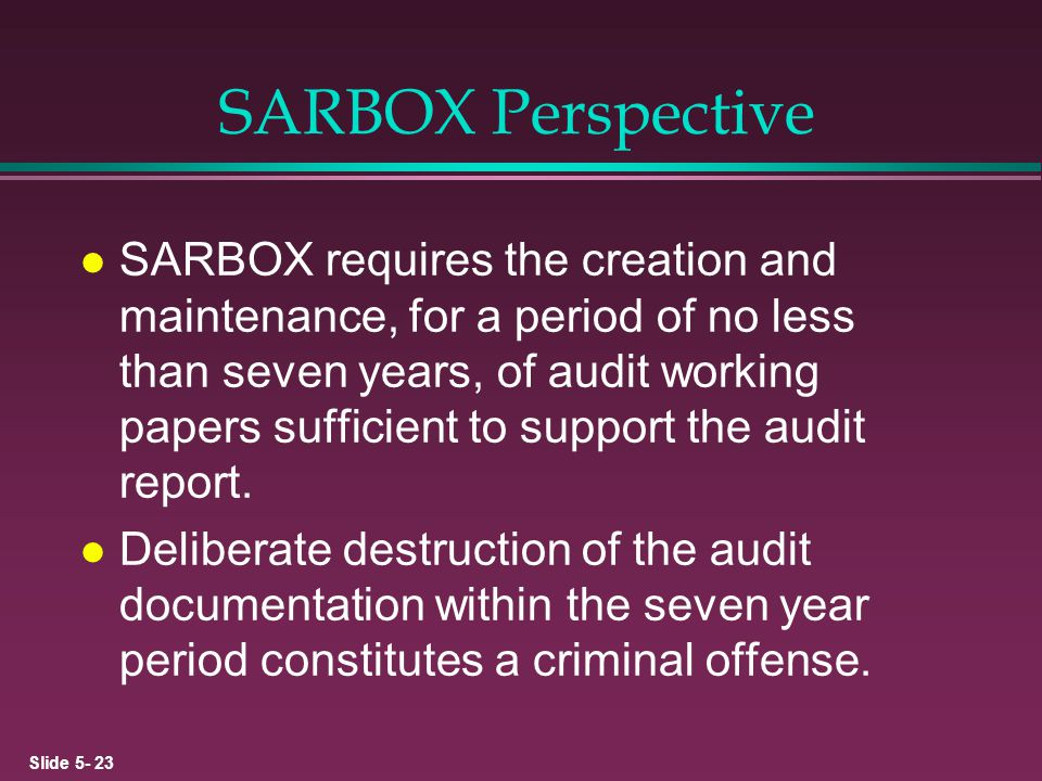 SARBOX Perspective
