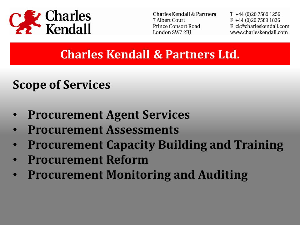 Charles Kendall & Partners Ltd.