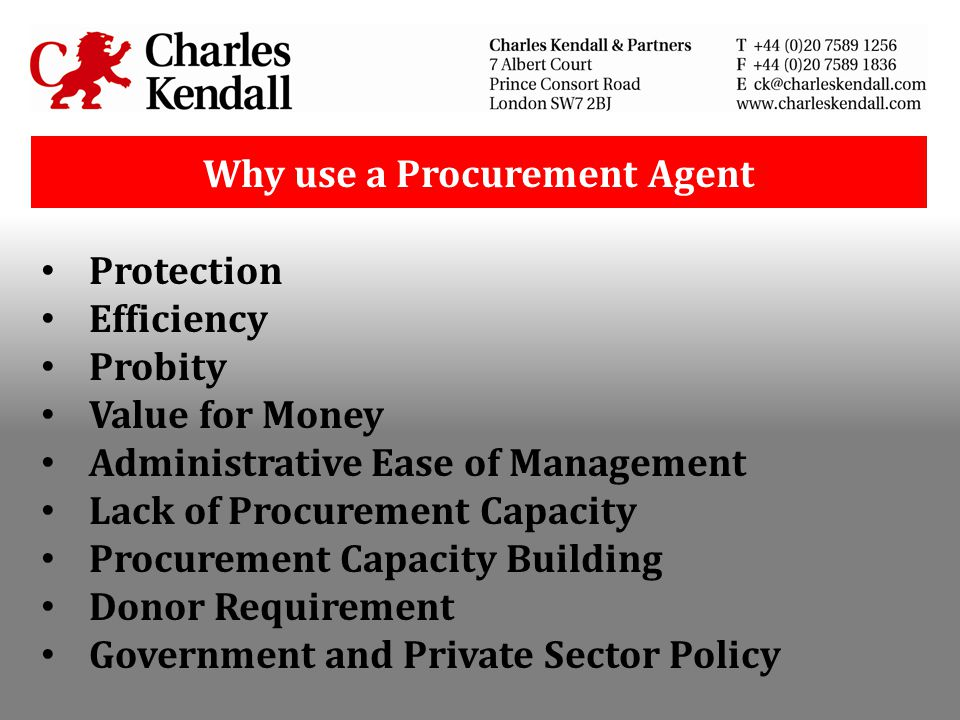 Why use a Procurement Agent
