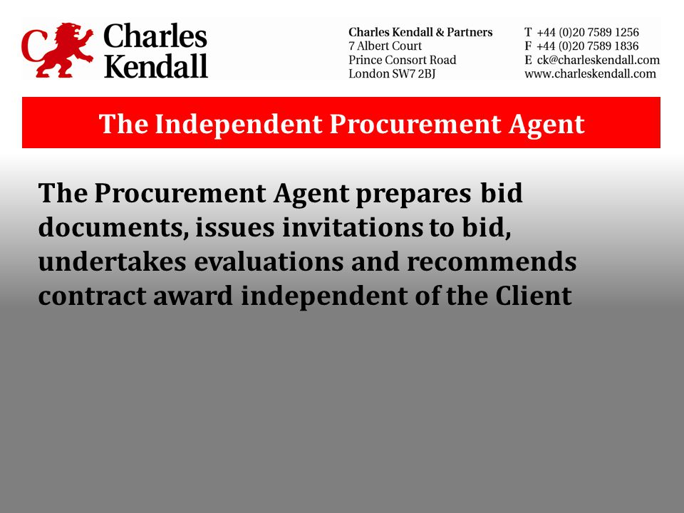 The Independent Procurement Agent