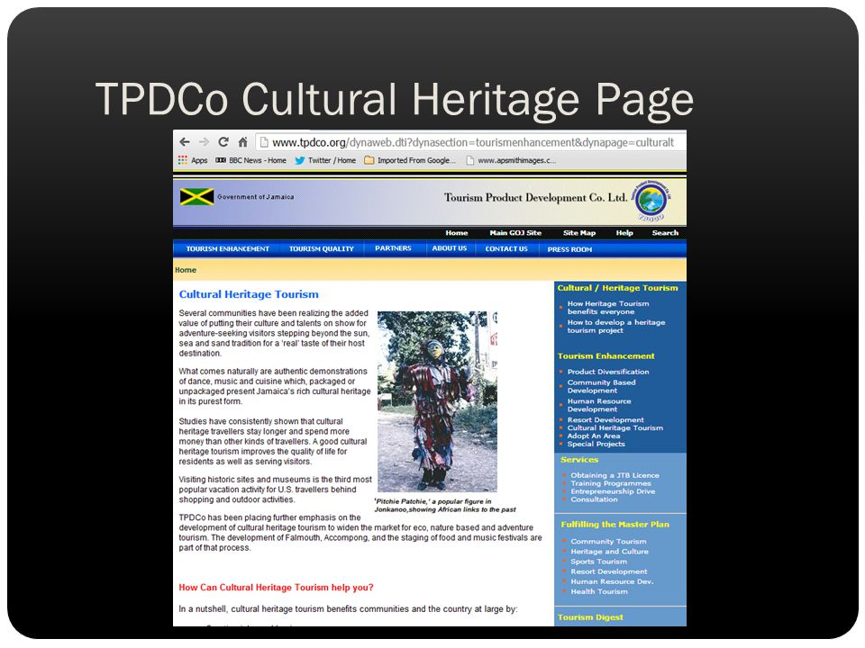 TPDCo Cultural Heritage Page