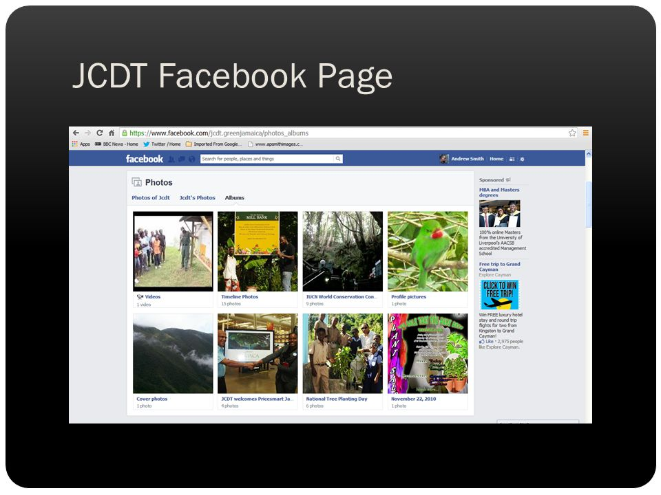 JCDT Facebook Page