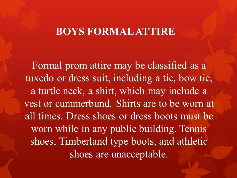 BOYS FORMAL ATTIRE