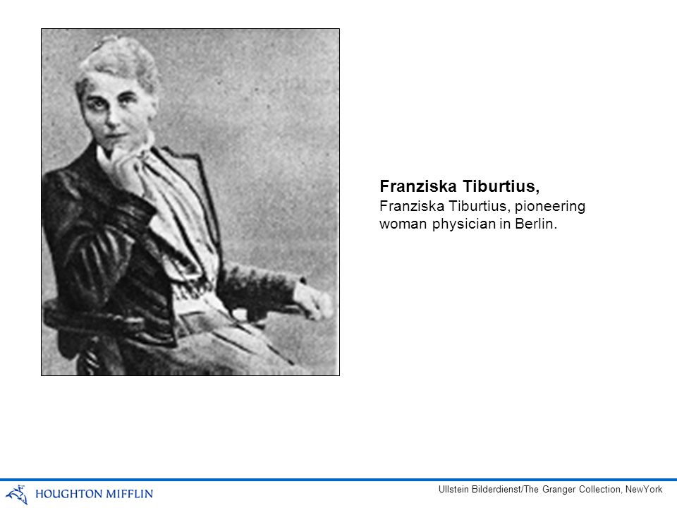 Franziska Tiburtius, Franziska Tiburtius, pioneering woman physician in Berlin.